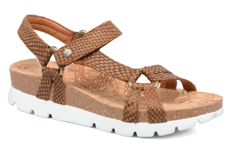 Sandales et nu-pieds Panama Jack Sally snake Marron vue détail/paire