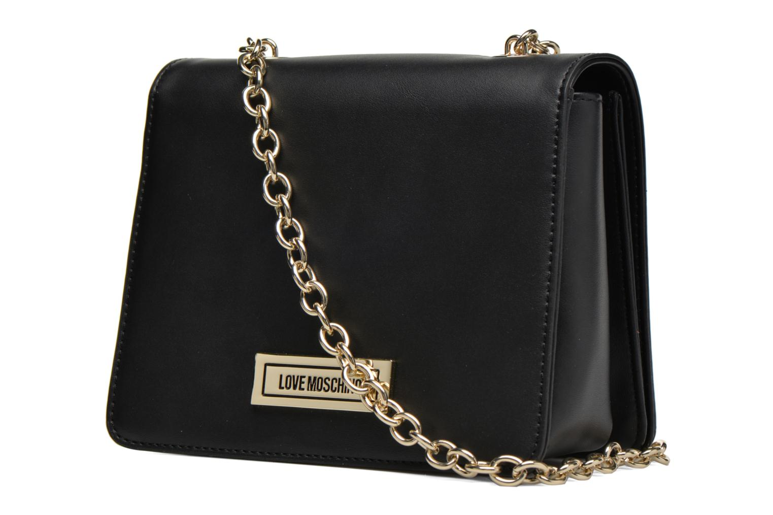 Sacs à main Love Moschino Melting love bag Crossbody Noir vue droite