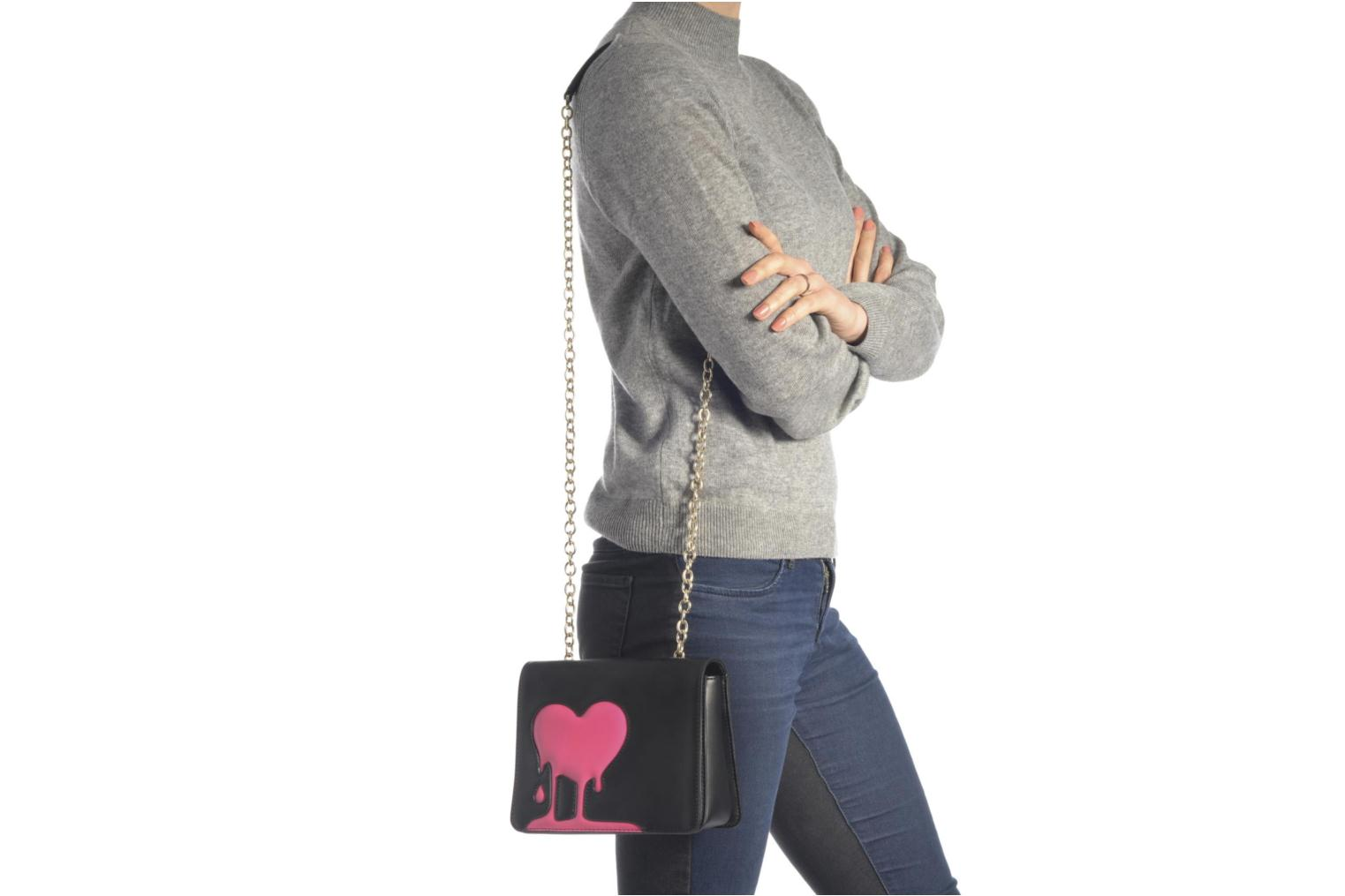 Sacs à main Love Moschino Melting love bag Crossbody Noir vue haut
