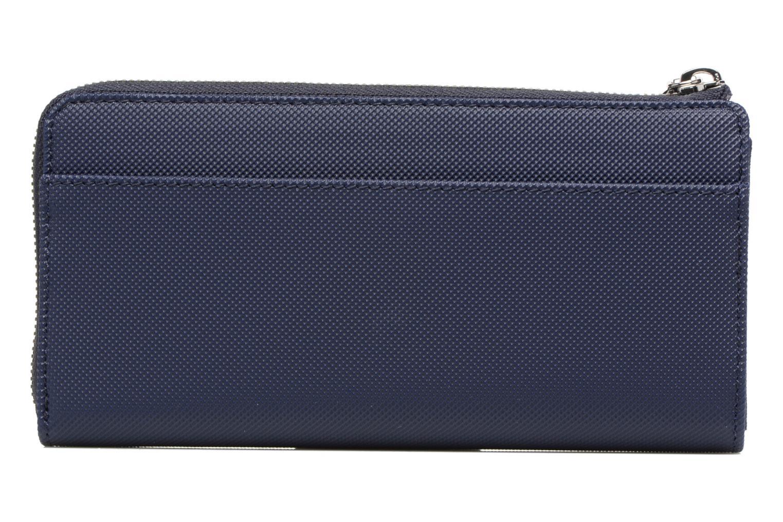 Petite Maroquinerie Lacoste Daily Classic Slim zip wallet Bleu vue face