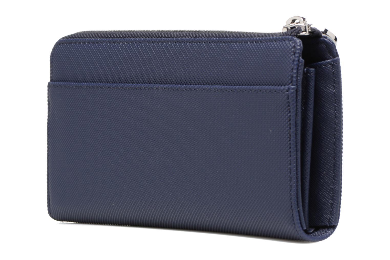 Petite Maroquinerie Lacoste Daily Classic Slim zip wallet Bleu vue droite