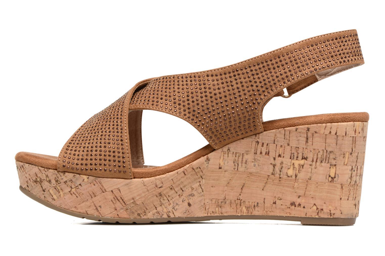 Sandales et nu-pieds Xti Zèm 46554 Marron vue face