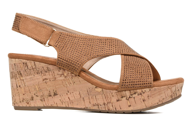 Sandales et nu-pieds Xti Zèm 46554 Marron vue derrière