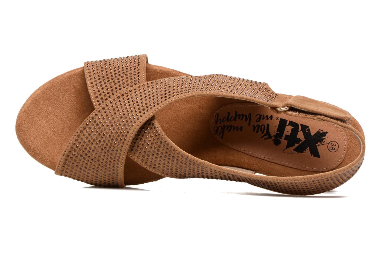 Sandales et nu-pieds Xti Zèm 46554 Marron vue gauche