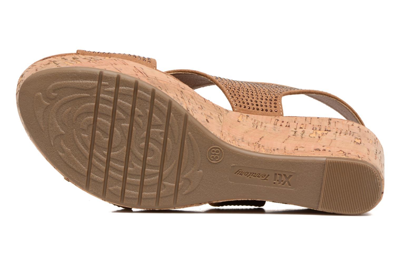 Sandales et nu-pieds Xti Zèm 46554 Marron vue haut