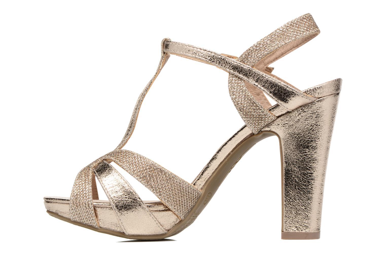 Sandales et nu-pieds Xti Martha 30610 Or et bronze vue face
