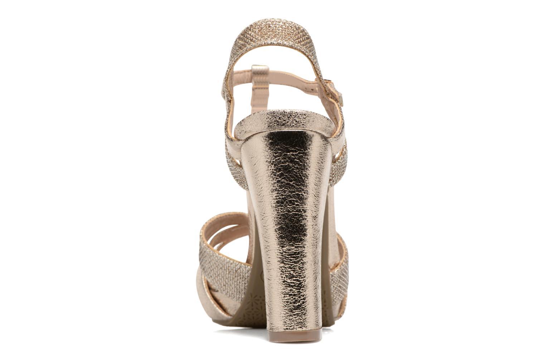 Sandales et nu-pieds Xti Martha 30610 Or et bronze vue droite