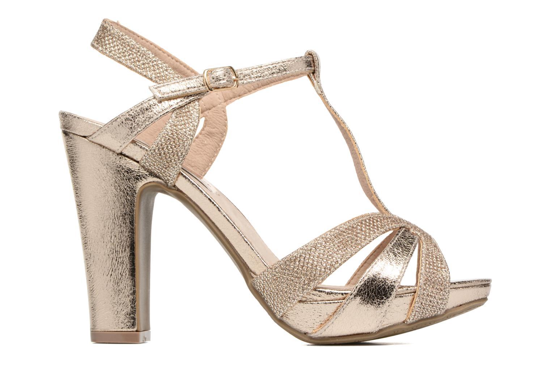 Sandales et nu-pieds Xti Martha 30610 Or et bronze vue derrière