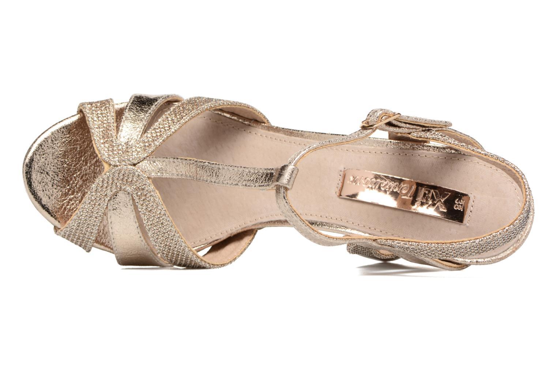 Sandales et nu-pieds Xti Martha 30610 Or et bronze vue gauche