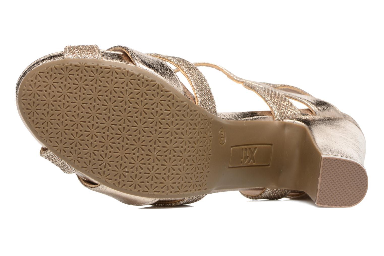 Sandales et nu-pieds Xti Martha 30610 Or et bronze vue haut
