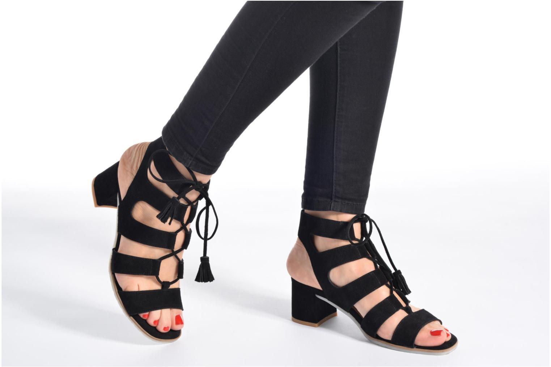 Sandales et nu-pieds Perlato Elba Noir vue bas / vue portée sac
