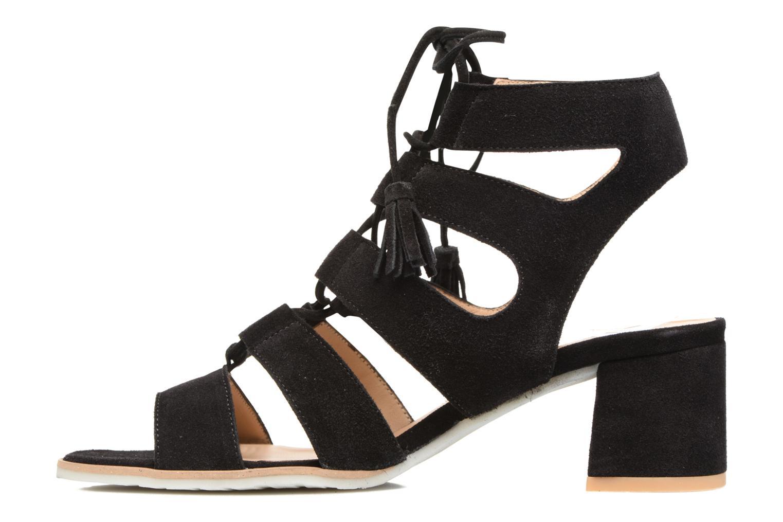 Sandales et nu-pieds Perlato Elba Noir vue face