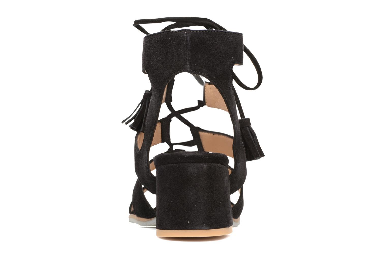 Sandales et nu-pieds Perlato Elba Noir vue droite