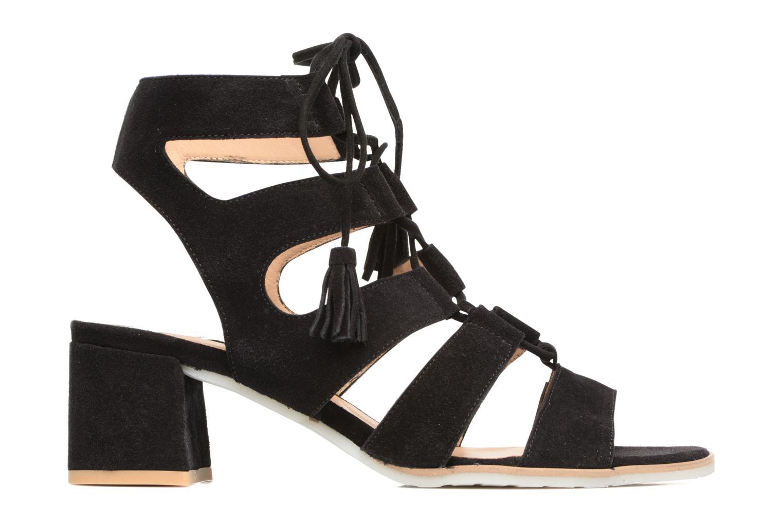 Sandales et nu-pieds Perlato Elba Noir vue derrière