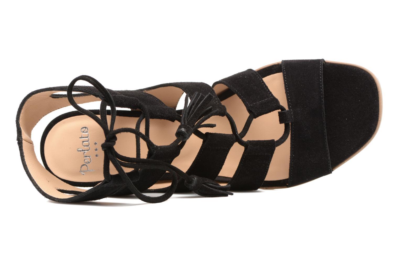 Sandales et nu-pieds Perlato Elba Noir vue gauche