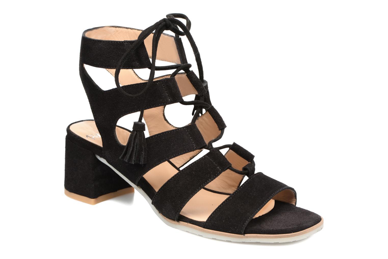 Sandales et nu-pieds Perlato Elba Noir vue détail/paire