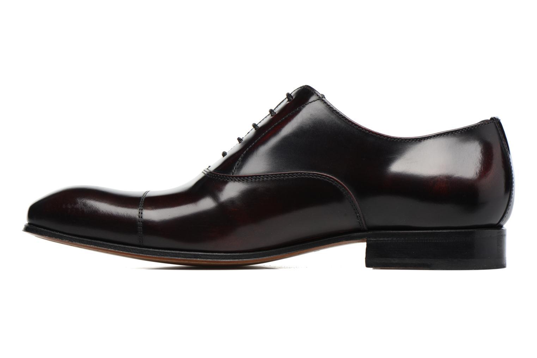 Snörade skor Marvin&Co Luxe Parado Vinröd bild från framsidan