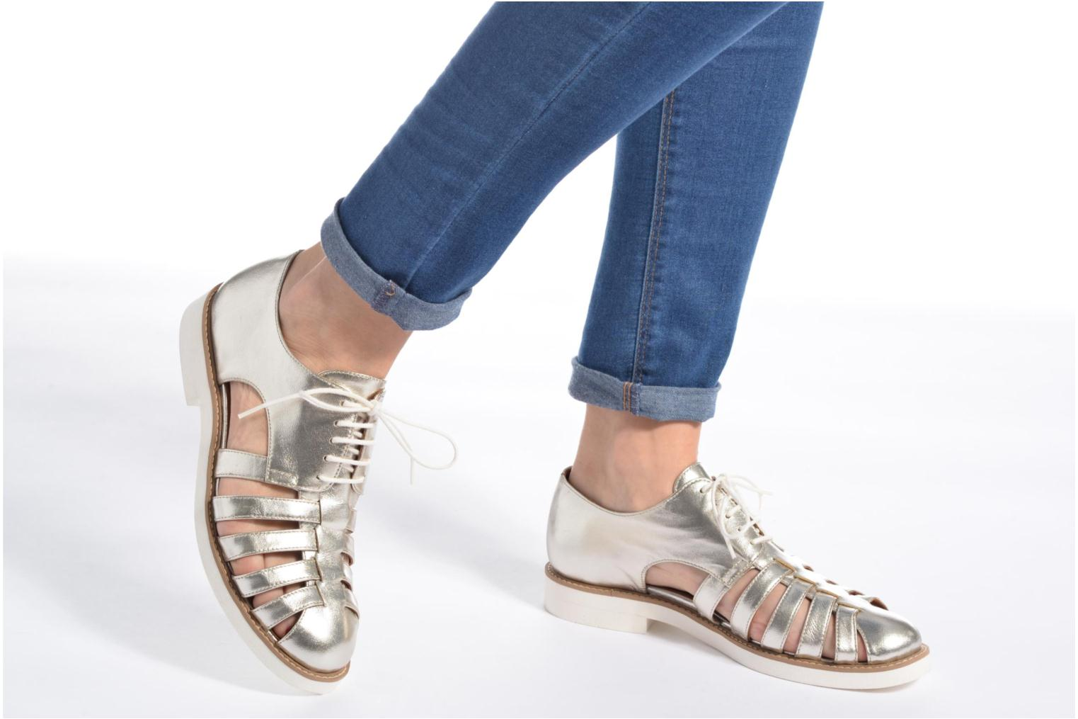 Lace-up shoes Made by SARENZA 90's Girls Gang Chaussures à Lacets #6 Silver view from underneath / model view