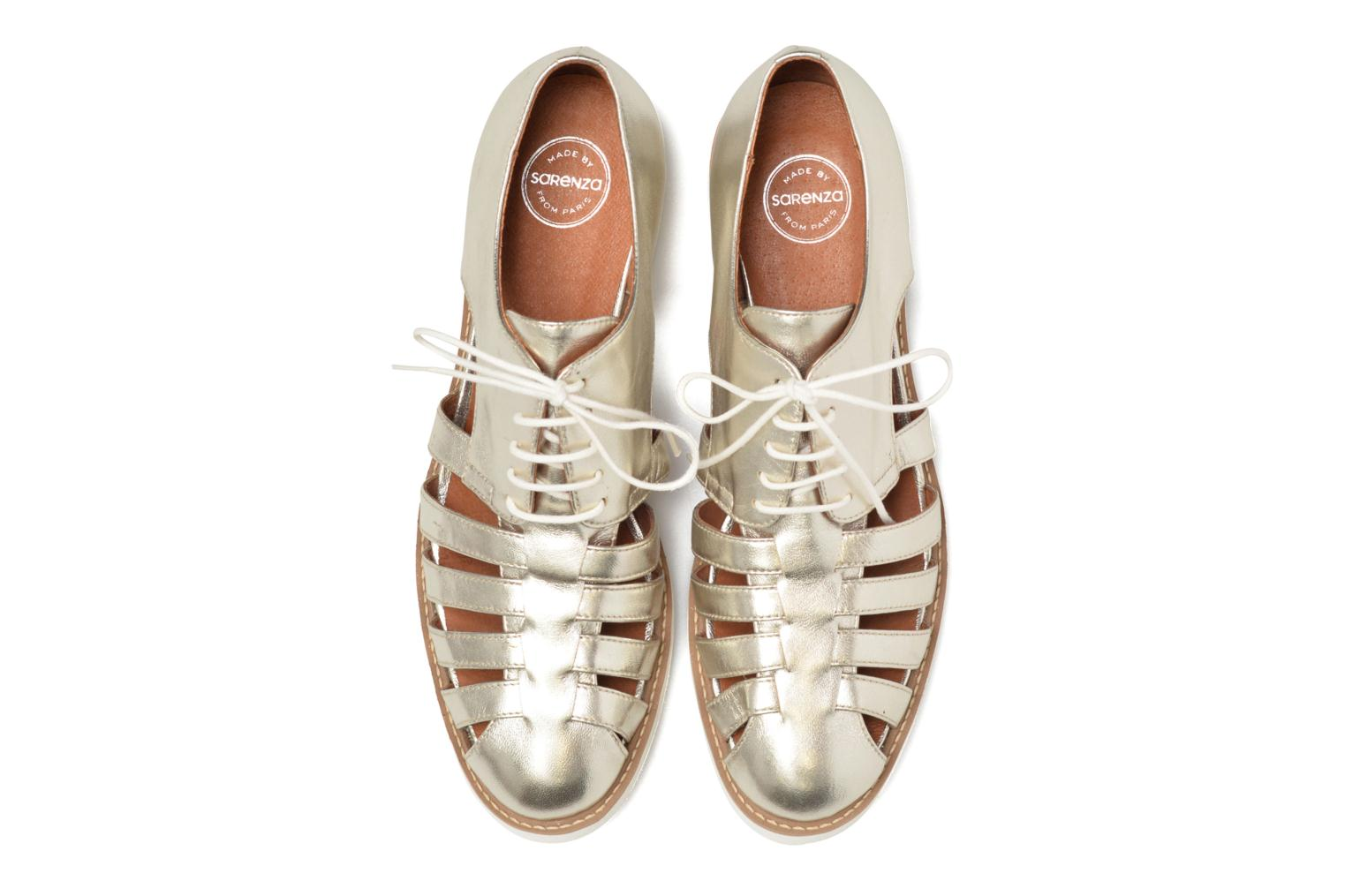 90's Girls Gang Chaussures à Lacets #6 galami argent treppointe cuir naturel