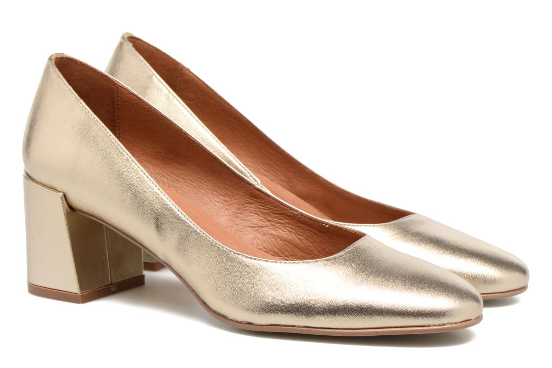 Høje hæle Made by SARENZA Rock-a-hula #11 Guld og bronze se bagfra