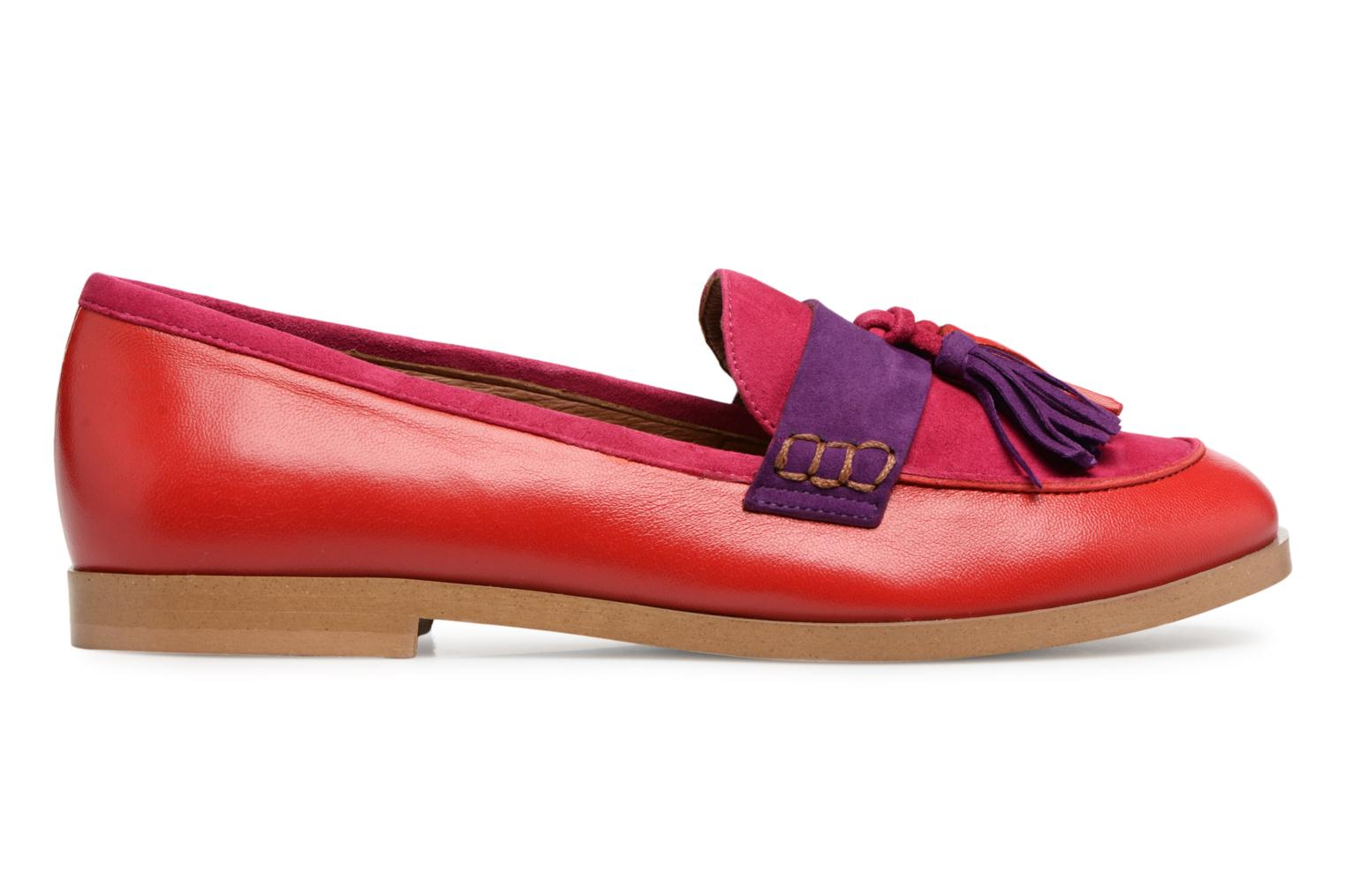 Bombay Babes Mocassins #2 cuir lisse rouge