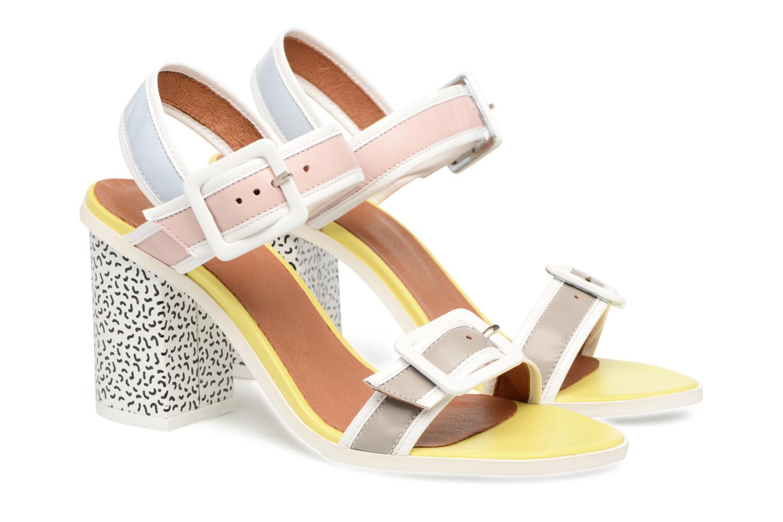 Pastel Belle #5 Mescai gris + mescai rose + mescai bleu + mescai jaune +fedeua