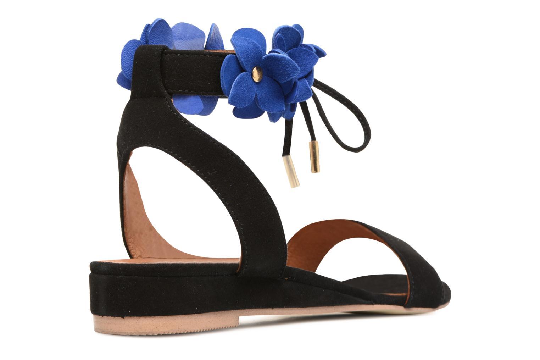 Frida Banana #7 Murças noir + fleurs murças bleu electrique