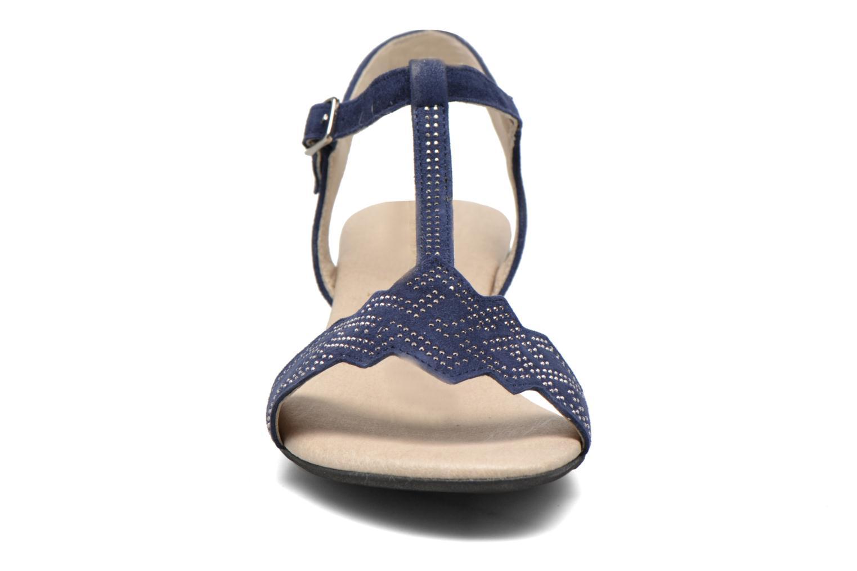 Sandales et nu-pieds Dorking Olivia 7173 Bleu vue portées chaussures