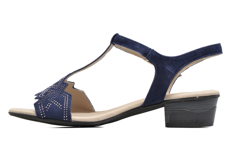 Sandales et nu-pieds Dorking Olivia 7173 Bleu vue face