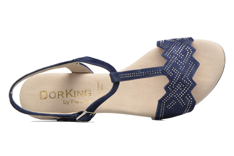 Sandales et nu-pieds Dorking Olivia 7173 Bleu vue gauche