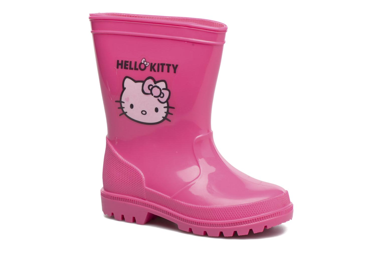 Bottes Hello Kitty Hk Falbata Rose vue détail/paire