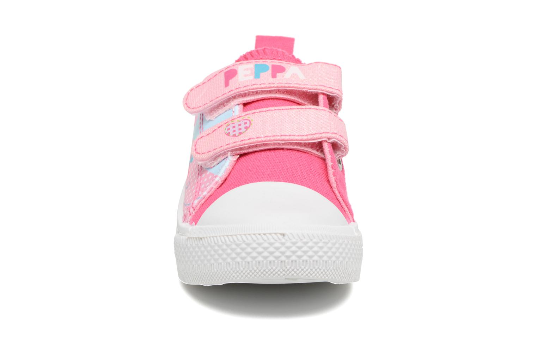 Baskets Peppa Pig PP ADELME Rose vue portées chaussures