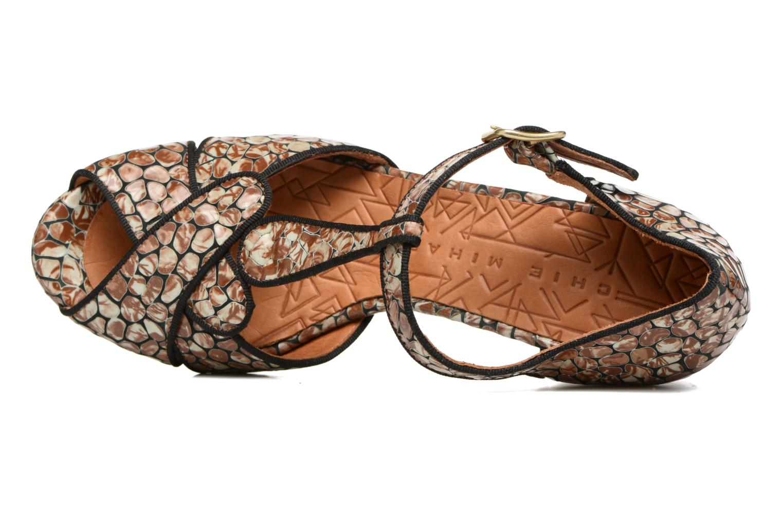 Sandales et nu-pieds Chie Mihara Giki Marron vue gauche