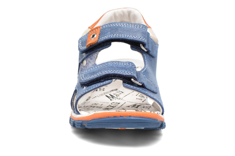 Sandales et nu-pieds Bopy Eblake Bleu vue portées chaussures