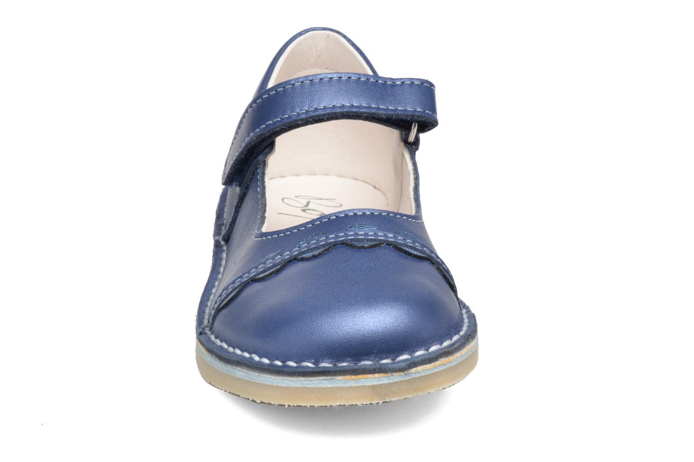 Ballerines Bopy Molina Bleu vue portées chaussures