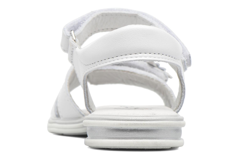 Sandalen Bopy Elisco weiß ansicht von rechts