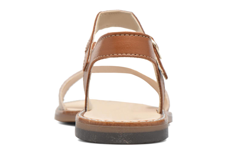 Sandales et nu-pieds Bopy Epouf Marron vue droite