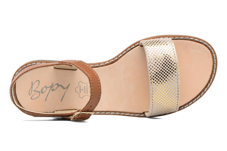 Sandales et nu-pieds Bopy Epouf Marron vue gauche