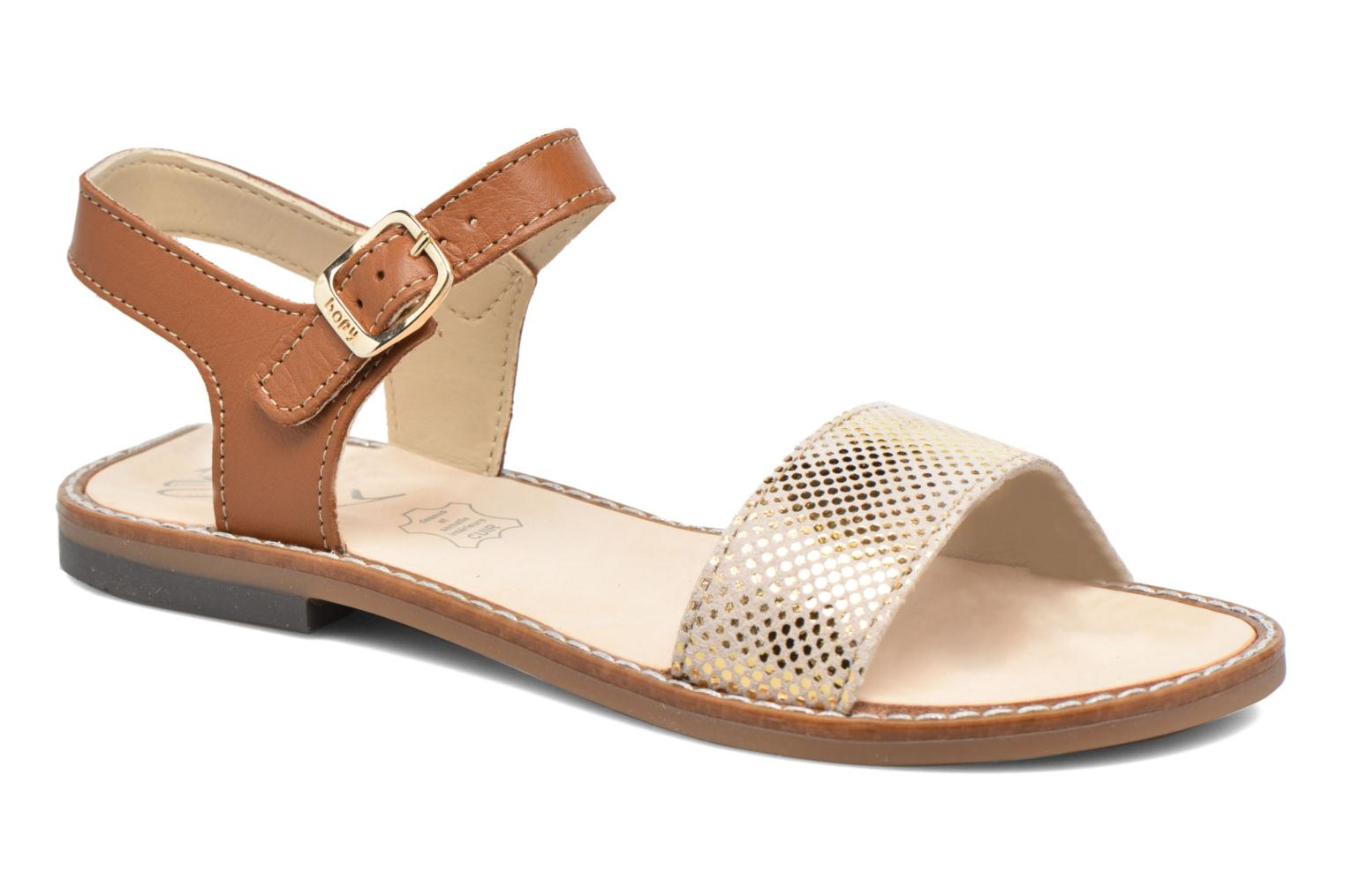 Sandals Bopy Epouf Brown detailed view/ Pair view