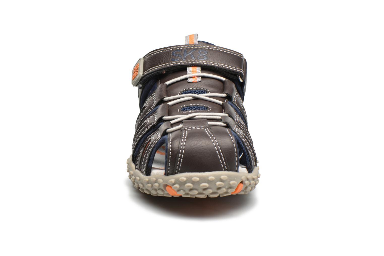 Sandales et nu-pieds Bopy Tupaco Marron vue portées chaussures