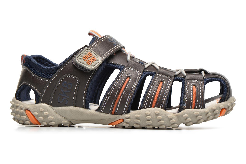 Sandales et nu-pieds Bopy Tupaco Marron vue derrière