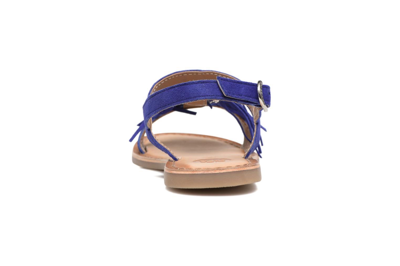 Sandales et nu-pieds Gioseppo Guarani Bleu vue droite