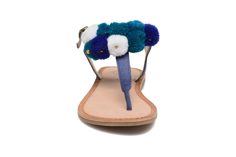 Sandales et nu-pieds Gioseppo Hatae Bleu vue portées chaussures