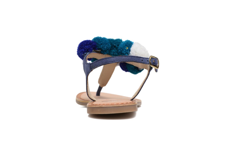Sandales et nu-pieds Gioseppo Hatae Bleu vue droite