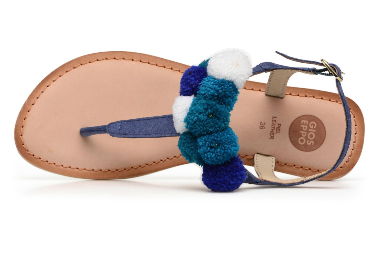 Sandales et nu-pieds Gioseppo Hatae Bleu vue gauche