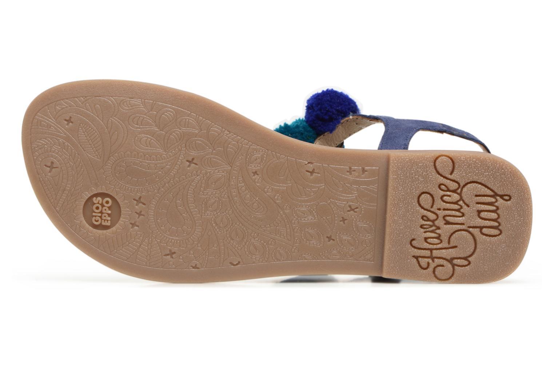Sandales et nu-pieds Gioseppo Hatae Bleu vue haut
