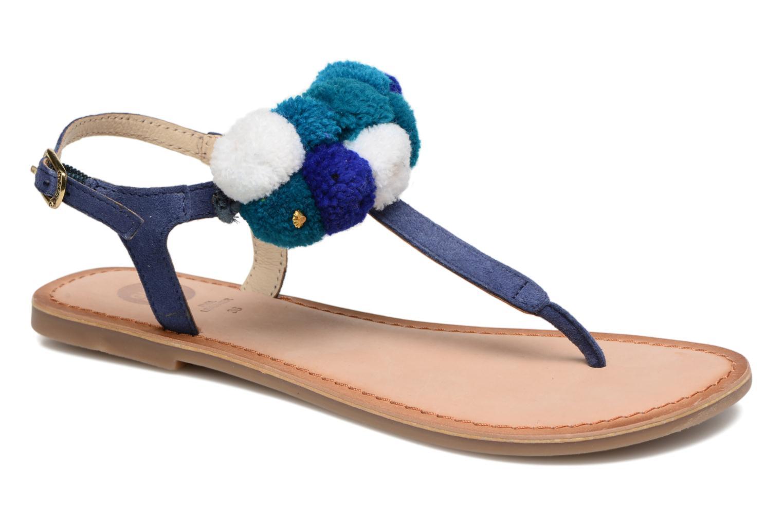 Sandales et nu-pieds Gioseppo Hatae Bleu vue détail/paire
