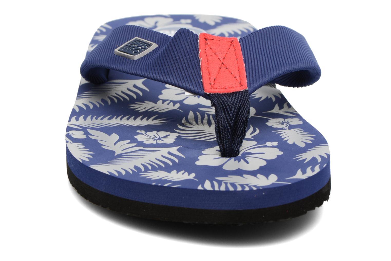 Tongs Gioseppo Racel Bleu vue portées chaussures