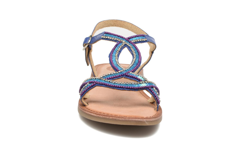 Sandales et nu-pieds Gioseppo Sanscrito Bleu vue portées chaussures