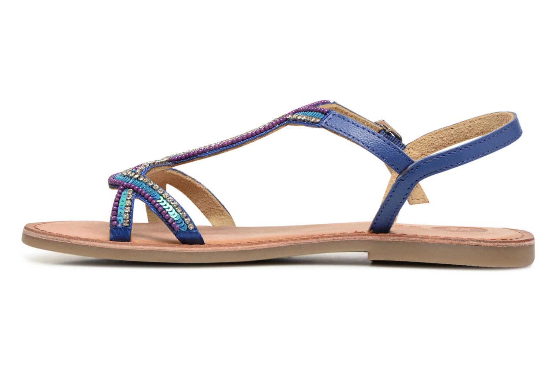 Sandales et nu-pieds Gioseppo Sanscrito Bleu vue face